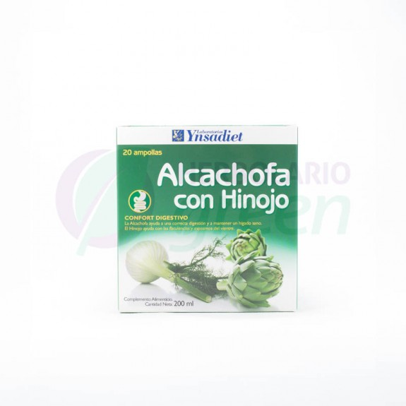 Alcachofa con Hinojo 20 ampollas Ynsadiet