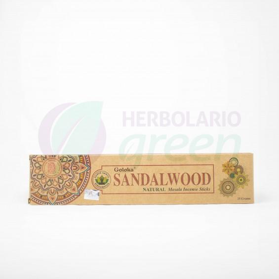 Incienso Sandalwood Natural 15 Gramos Goloka
