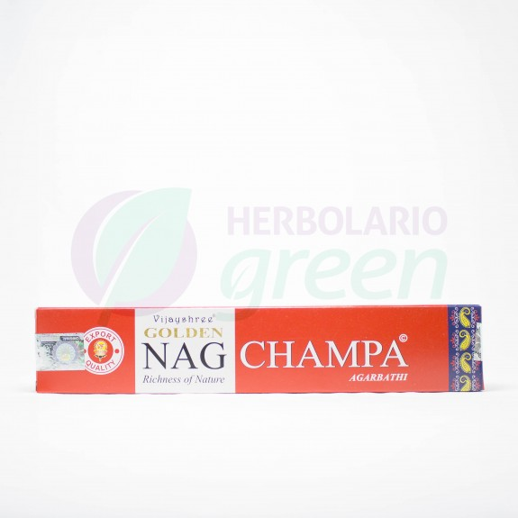 Incienso Nag Champa Golden Agarbathi 15 Gramos Vijayshree