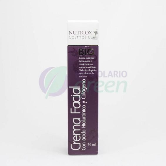 Crema facial ácido hialurónico y colágeno Bio 50ml Nutriox
