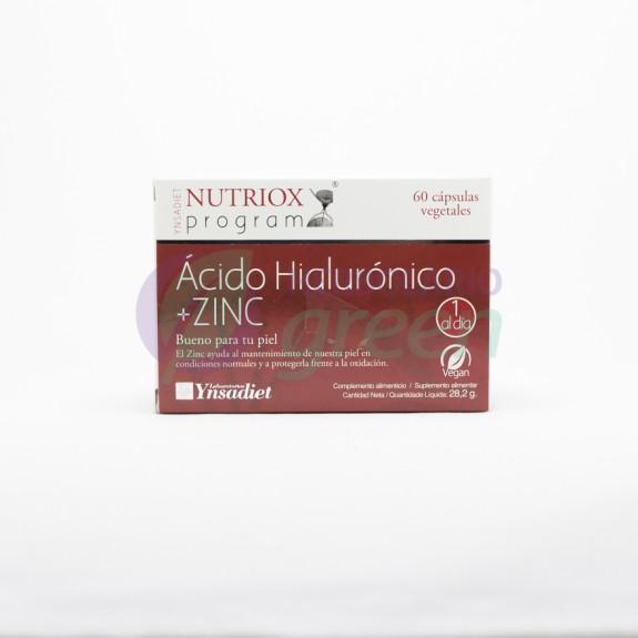 Acido Hialuronico+Zinc 60 capsulas Nutriox