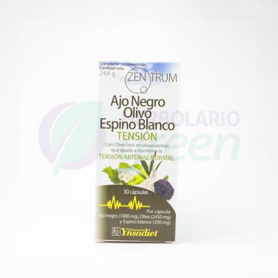 Ajo Negro , Olivo y Espino Blanco 30 capsulas Zentrum