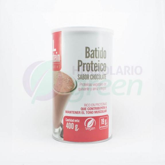 Batido proteico chocolate vegetal 400gr KL Protein