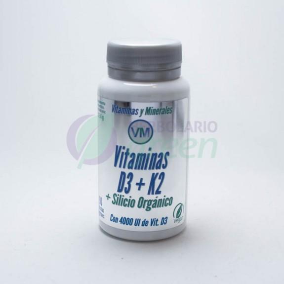 Vitamina D3+K2+Silicio organico 90 capsulas