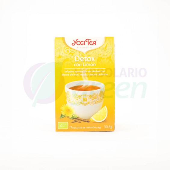 Infusion Detox con Limon 17 filtros Yogi Tea