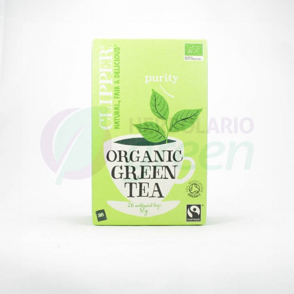 Infusion Organic Green Tea 26 filtros Clipper