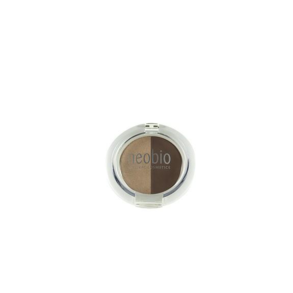Sombra de ojos NeoBio 02 brown champaigne