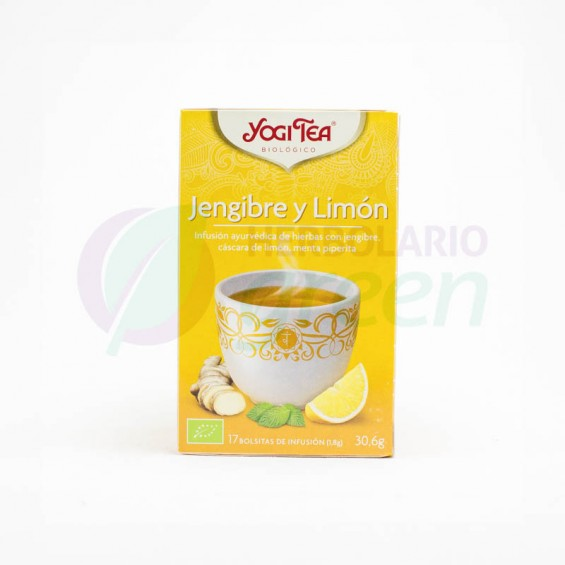 Infusion Jengibre y Limon 17 filtros Yogi Tea