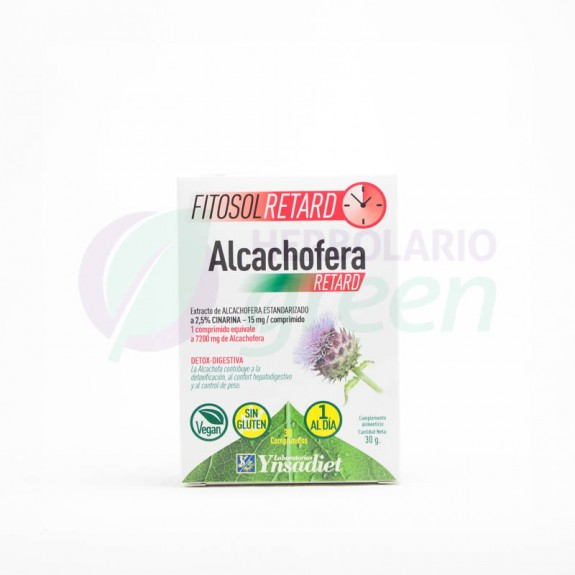 Alcachofera 30 comprimidos Fitosol Retard